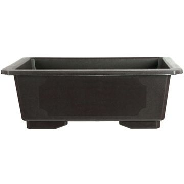 Bonsai pot dark brown rectangular plastic 58x41x21cm
