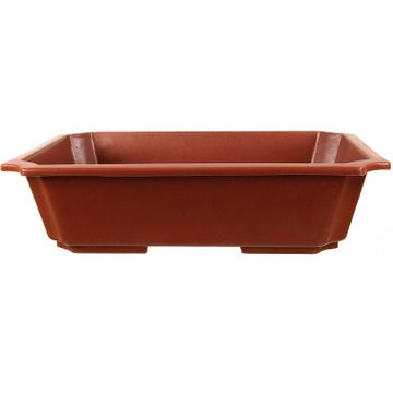 Bonsai pot 43x31x10.5cm brown rectangular plastic